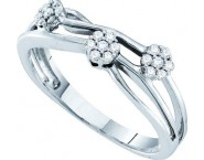Ladies Diamond Cluster Ring 14K White Gold 0.15 cts. GD-39814
