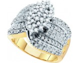 Diamond Cocktail Ring 10K Yellow Gold 0.78 cts GD-42278