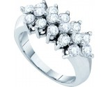 Ladies Diamond Fashion Ring 14K White Gold 1.50 cts. GD-44412
