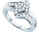 Ladies Diamond Fashion Ring 14K White Gold 0.50 cts. GD-44486