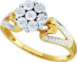 Diamond Cocktail Ring 10K Yellow Gold 0.04 cts. GD-45966