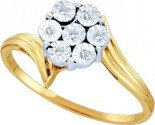Diamond Cocktail Ring 10K Yellow Gold 0.04 cts. GD-45970