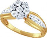 Diamond Cocktail Ring 10K Yellow Gold 0.04 cts. GD-45972