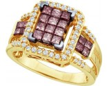 Chocolate Diamond Fashion Ring 14K Yellow Gold 1.00 ct. GD-47034