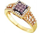 Cognac Diamond Ring 14K Yellow Gold 0.50 cts. GD-47069
