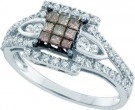 Ladies Diamond Fashion Ring 14K White Gold 0.50 cts. GD-47074
