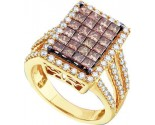 Chocolate Diamond Ring 14K Yellow Gold 2.50 cts. GD-47182