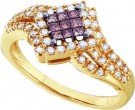 Cognac Diamond Fashion Ring 14K Yellow Gold 0.50 cts. GD-47206