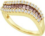 Champagne Diamond Band 14K Yellow Gold 0.67 cts. GD-47214