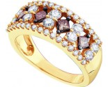 Chocolate Diamond Band 14K Yellow Gold 1.25 cts. GD-47216