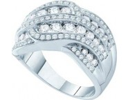 Ladies Diamond Fashion Band 14K White Gold 1.50 cts. GD-47439 [GD-47439]
