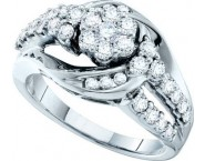 Ladies Diamond Fashion Ring 14K White Gold 1.01 cts. GD-47457 [GD-47457]