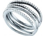 Diamond Cocktail Ring 14K White Gold 0.50 cts GD-48412