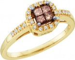 Champagne Diamond Fashion Ring 10K Yellow Gold 0.25 cts. GD-48906