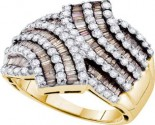 Chocolate Diamond Band 14K Yellow Gold 1.75 cts. GD-49648
