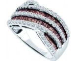 Brown Diamond Fashion Band 14K White Gold 1.52 cts. GD-49649