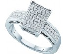 Ladies Diamond Fashion Ring 10K White Gold 0.20 cts. GD-49853