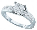 Ladies Diamond Fashion Ring 10K White Gold 0.15 cts. GD-49863
