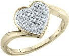Ladies Diamond Heart Ring 10K Gold 0.05 cts. GD-49935