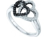 Ladies Diamond Heart Ring 14K White Gold 0.27 cts. GD-51104