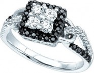 Ladies Diamond Fashion Ring 14K White Gold 0.75 cts. GD-51109 [GD-51109]
