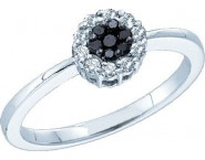 Ladies Diamond Flower Ring 14K White Gold 0.25 cts. GD-51149