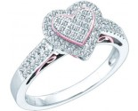 Diamond Heart Ring 10K White Gold 0.30 cts. GD-51153