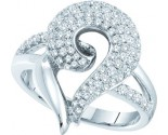 Ladies Diamond Fashion Ring 14K White Gold 1.02 cts. GD-51203
