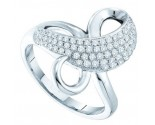 Ladies Diamond Fashion Ring 14K White Gold 0.51 cts. GD-51206