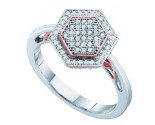 Ladies Diamond Fashion Ring 10K White Gold 0.20 cts. GD-51320