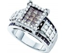 Ladies Diamond Fashion Ring 14K White Gold 2.00 ct. GD-51575