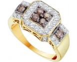 Cognac Brown Diamond Band 14K Yellow Gold 1.00 ct. GD-51712