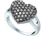 Ladies Diamond Heart Ring 14K White Gold 1.00 ct. GD-51726