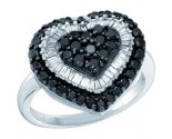 Ladies Diamond Heart Ring 14K White Gold 1.20 cts. GD-51728