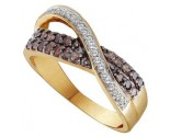 Champagne Diamond Band 14K Yellow Gold 0.49 cts. GD-51731