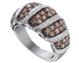 Chocolate Diamond Band 14K White Gold 1.48 cts. GD-51710