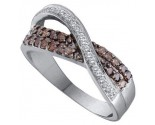 Champagne Diamond Band 14K White Gold 0.49 cts. GD-51784