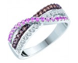 Chocolate Diamond Fashion Band 14K White Gold 0.58 cts. GD-52027