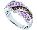 Chocolate Diamond Fashion Band 14K White Gold 0.89 cts. GD-52031