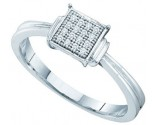 Ladies Diamond Fashion Ring 10K White Gold 0.05 cts. GD-52093