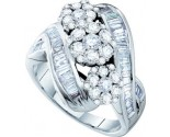 Ladies Diamond Fashion Ring 14K White Gold 2.00 ct. GD-52323