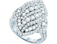 Ladies Diamond Fashion Ring 14K White Gold 2.00 ct. GD-52406