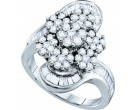Ladies Diamond Fashion Ring 14K White Gold 2.00 ct. GD-53020