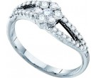 Ladies Diamond Flower Ring 14K White Gold 0.54 cts. GD-53033