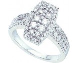 Ladies Diamond Fashion Ring 14K White Gold 1.00 ct. GD-53102