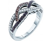 Ladies Diamond Fashion Ring 14K White Gold 0.32 cts. GD-53135