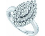 Ladies Diamond Fashion Ring 14K White Gold 1.00 ct. GD-53145