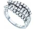 Diamond Cocktail Ring 14K White Gold 1.00 ct GD-53168
