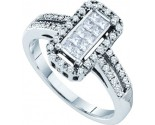 Ladies Diamond Fashion Ring 14K White Gold 0.39 cts. GD-53179