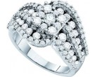 Ladies Diamond Fashion Band 14K White Gold 2.00 ct. GD-53251